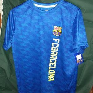 FCBARCELONA Mens soft material blue soccer shirt